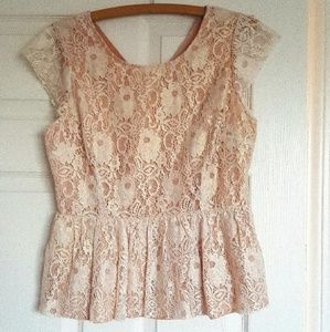 Floral lace top by Anthropologie Maeve